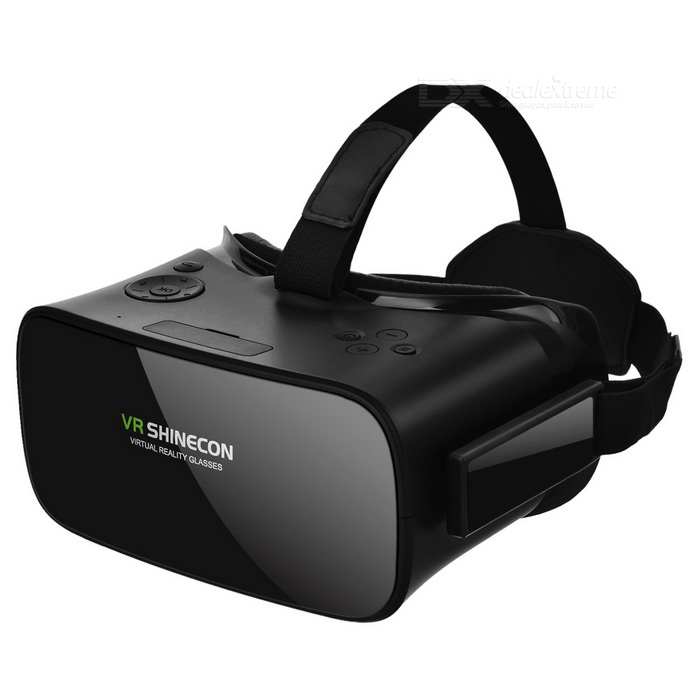 SHINECON VRAll-in-one Virtual Reality 3D Glasses - Black3D Glasses<br>Form  ColorBlackMaterialABSQuantity1 DX.PCM.Model.AttributeModel.UnitShade Of ColorBlackTypeOthers,Left-rightPowered ByBuilt-in BatteryBattery Life2.5 DX.PCM.Model.AttributeModel.UnitPacking List1 * 3D glasses1 * Chinese / English user manual1 * Cloth1 * Data cable (82cm)<br>
