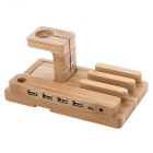 Universal-Real-Bamboo-Wood-Charging-Stand-Holder-Brown