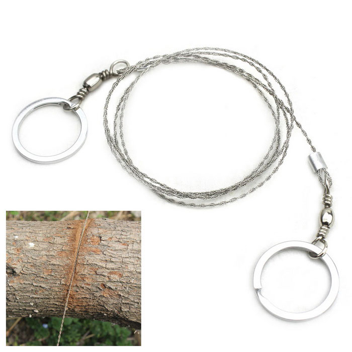 Buy 360 Degrees Rotation Stainless Steel Cutting Saw Wire - Silver with Litecoins with Free Shipping on Gipsybee.com