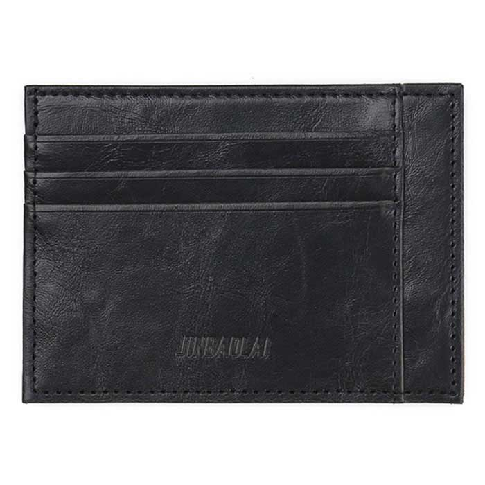 Buy JIN BAO LAI Men's Fashionable Cards Holder Cash Clip Wallet - Black with Litecoins with Free Shipping on Gipsybee.com