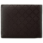 JIN BAO LAI 3266-1 Men's Fashionable PU Leather Short Wallet - Coffee
