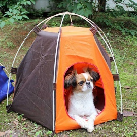 Outdoor-UV-Protection-Oxford-Cloth-Tent-Camp-for-Pets-Orange