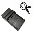 BLM1 Micro USB Mobile Camera Battery Charger for Olympus - Black