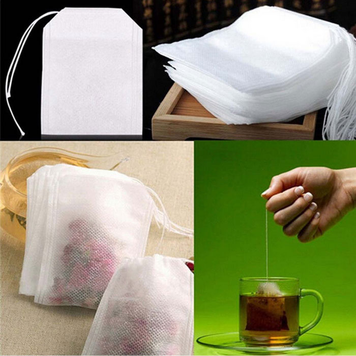 Buy 55*60mm Pumping Line Bags Tea Filter Bag - White (100PCS) with Litecoins with Free Shipping on Gipsybee.com