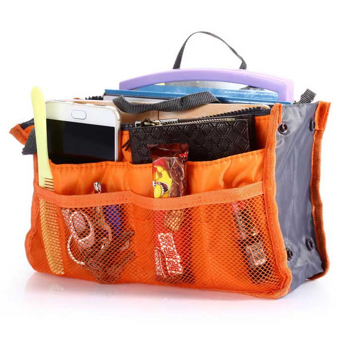 Storage Bag / Organizer / Double-zipper Cosmetic Pocket