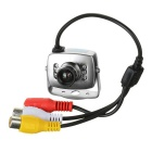 CMOS Color Surveillance Security Camera with 6-IR LED (PAL) -Silver