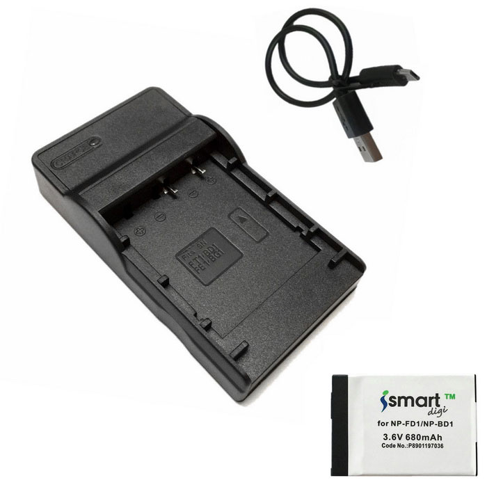 ismartdigi FD1 Battery + Micro USB Mobile Camera Battery Charger