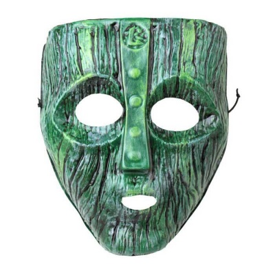 Holiday Dress Loki The Trickster Kineve Style Mask - Black + Green