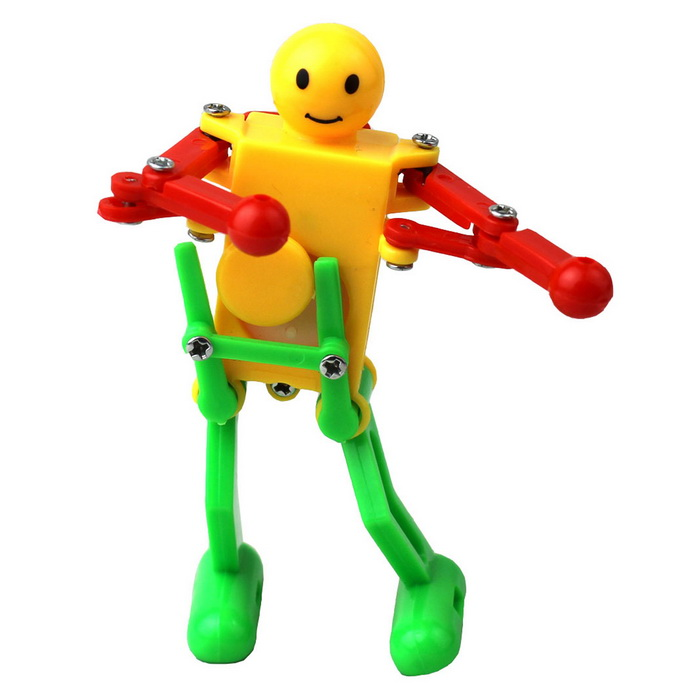 Interesting Dance Twist Ass Boxing Spring Smile Robot (Random Color)