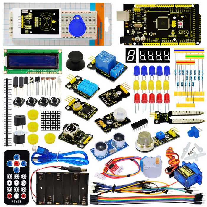 Buy Keyestudio Super Learning Kit for Arduino with Mega 2560 R3 with Litecoins with Free Shipping on Gipsybee.com