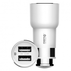 Xiaomi ROIDMI 2S Car Bluetooth FM Transmitter Dual USB Charger - White