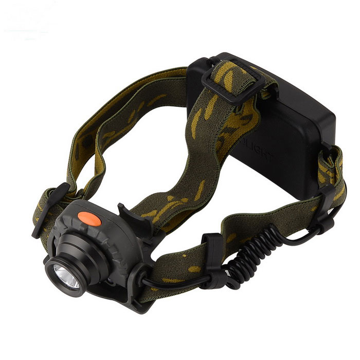 GY02 3-Mode 160lm Waterproof LED Flashlight / Torch/Bike Light - BlackHeadlamps<br>Form  ColorBlack + Camouflage GreenModelGY02Quantity1 DX.PCM.Model.AttributeModel.UnitMaterialAluminum alloy/plasticEmitter BrandCreeLED TypeXP-EEmitter BINR3Color BINCold WhiteNumber of Emitters1Working Voltage   3.6~4.5 DX.PCM.Model.AttributeModel.UnitPower Supply3*AAACurrent800 DX.PCM.Model.AttributeModel.UnitTheoretical LumensLower than 400 DX.PCM.Model.AttributeModel.UnitActual Lumens160 DX.PCM.Model.AttributeModel.UnitRuntime5 DX.PCM.Model.AttributeModel.UnitNumber of Modes3Mode ArrangementHi,Low,Others,gateMode MemoryNoSwitch TypeClicky SwitchSwitch LocationHead TwistyLensGlassReflectorPlastic TexturedBand Length11 DX.PCM.Model.AttributeModel.UnitCompatible Circumference50~60cmBeam Range100-199 DX.PCM.Model.AttributeModel.UnitOther FeaturesThe IPX - 6 (IPX - 6: water proof strength greater shooting)Packing List1 * Head lamp<br>