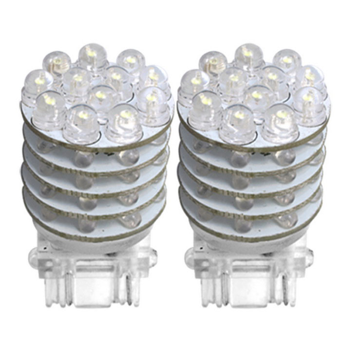 QOOK T25 Cold White 48-LED Tail Brake Stop Light Bulbs (2PCS)Tail Lights<br>Color BINCool WhiteModelJHC177Quantity2 DX.PCM.Model.AttributeModel.UnitMaterialPCForm  ColorWhiteEmitter TypeLEDChip BrandOthers,QOOKChip TypeLEDTotal EmittersOthers,48Power3WColor Temperature5500 DX.PCM.Model.AttributeModel.UnitActual Lumens120 DX.PCM.Model.AttributeModel.UnitRate Voltage12VWaterproof FunctionNoConnector TypeOthers,T25ApplicationBrake light,Steering light,Tail lightPacking List2 * LED Bulbs<br>