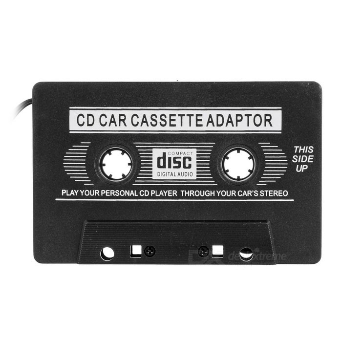 Car Audio Cassette Adapter for MP3/ Cellphones - Black (3.5mm Jack)