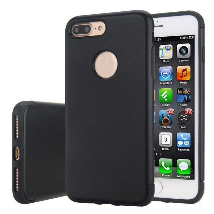 Premium Dual Layer PC + TPU Case for iPhone 7 PLUS - BlackTPU Cases<br>Form ColorBlackModelN/AQuantity1 DX.PCM.Model.AttributeModel.UnitMaterialOthers,TPU+PCCompatible ModelsiPhone 7 PLUSDesignSolid ColorStyleBack CasesPacking List1 * Case<br>
