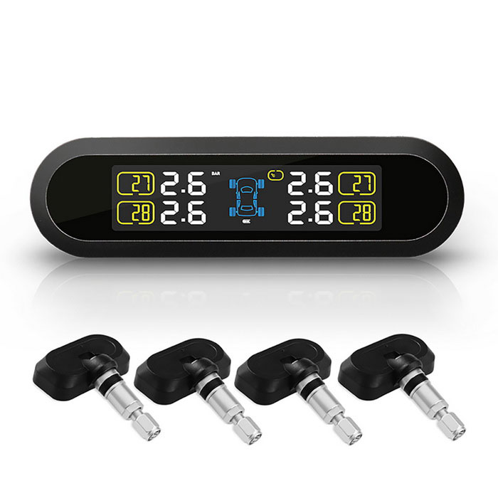PERSHN T5-NF Solar Power Tire Pressure Monitor System - Black