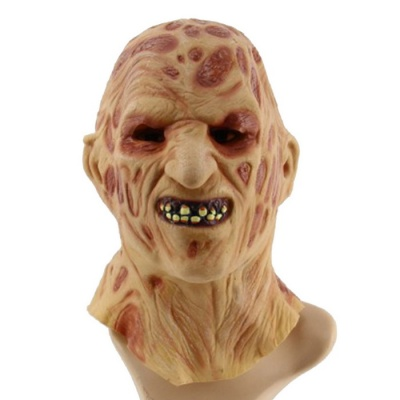 Halloween Dress Up Terrorist Devil Style Face Mask - Beige