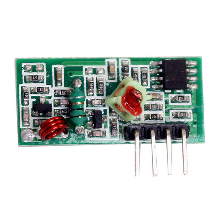 DIY 433MHz Wireless Superregeneration Receiving ModuleTransmitters &amp; Receivers Module<br>Form  ColorGreenModelN/AQuantity1 DX.PCM.Model.AttributeModel.UnitMaterialPCB + electronic componentsFrequency433MHzWorking Voltage   3~12 DX.PCM.Model.AttributeModel.UnitWorking Current10-15 DX.PCM.Model.AttributeModel.UnitEffective Range20~100mEnglish Manual / SpecYesDownload Link   http://pan.baidu.com/s/1o667XUEPacking List1 * Module<br>