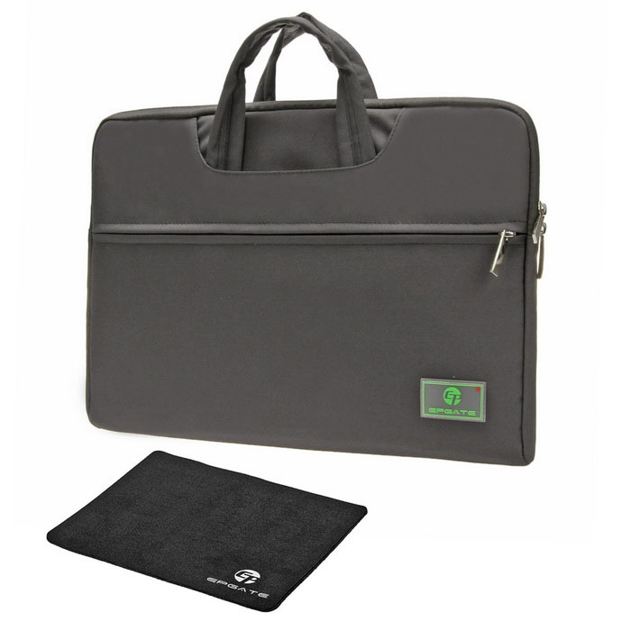 EPGATE-15-Ultra-Light-Portable-Tote-Laptop-Bag-2b-Mouse-Pad-Gray