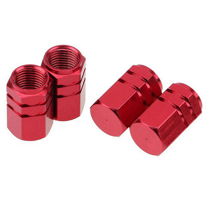 ZIQIAO Car Tire Valves Decoration Caps - Red (4PCS)