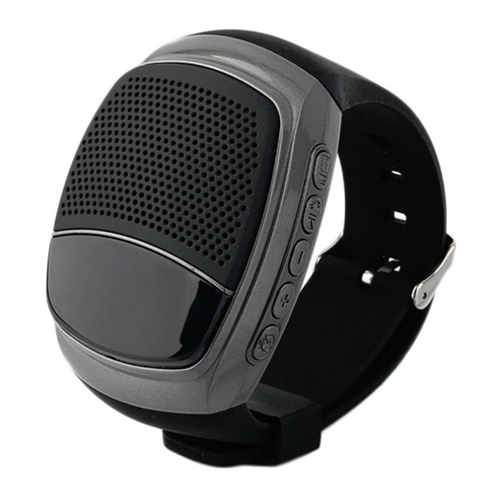 B90 Bluetooth Portable Mini Audio Movement Watch Music Speaker - BlackBluetooth Speakers<br>Form  ColorBlackModelB90MaterialABSQuantity1 DX.PCM.Model.AttributeModel.UnitShade Of ColorBlackBluetooth HandsfreeYesBluetooth VersionBluetooth V3.0Operating RangeBarrier-free 10 metersTotal Power3 DX.PCM.Model.AttributeModel.UnitInterfaceUSB 2.0MicrophoneYesSNR80dBSensitivity83dB + / 3 dBFrequency Response120hz~20khzApplicable ProductsOthers,UniversalRadio TunerYesFM Frequency87.5~108MHzSupports Card TypeMicroSD (TF)Max Extended Capacity32GBBuilt-in Battery Capacity 500 DX.PCM.Model.AttributeModel.UnitPacking List1 * B90 speaker1 * Cable (30cm)1 * Instruction in both English and Chinese<br>