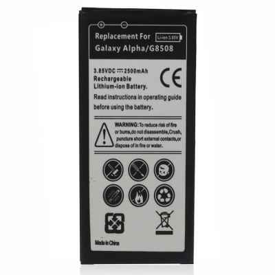 """Replacement 3.85V """"2500mAh"""" Battery for Samsung Galaxy Alpha / G850"""