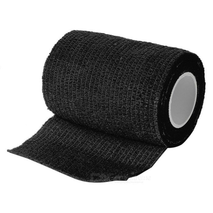 Medical Non Woven Self Adhesive Bandage - Black (7.5cm*5.3m)First Aid<br>Form  ColorBlackQuantity1 DX.PCM.Model.AttributeModel.UnitMaterialNon-woven fabricsBest UseRunning,Climbing,Rock Climbing,Camping,Mountaineering,TravelPacking List1 * Bandage<br>