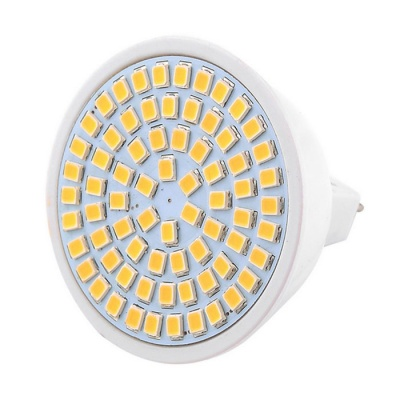 YWXLight High Bright MR16 7W 72-2835 SMD LED Spotlight Warm White