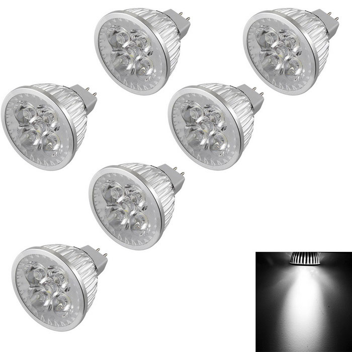YouOKLight MR16 4W Dimmable 4-LED Spotlights Cold White Light (6PCS)MR16<br>Color BINCool WhiteModelYK1639MaterialAL + PCForm  ColorSilverQuantity6 DX.PCM.Model.AttributeModel.UnitPower4WRated VoltageOthers,DC 12 DX.PCM.Model.AttributeModel.UnitConnector TypeMR16Emitter TypeLEDTotal Emitters4Chip BrandEpistar,Others,-Actual Lumens360-400 DX.PCM.Model.AttributeModel.UnitTheoretical Lumens360-400 DX.PCM.Model.AttributeModel.UnitColor Temperature6000KDimmableYesBeam Angle60 DX.PCM.Model.AttributeModel.UnitPacking List6 * LED Spotlights<br>
