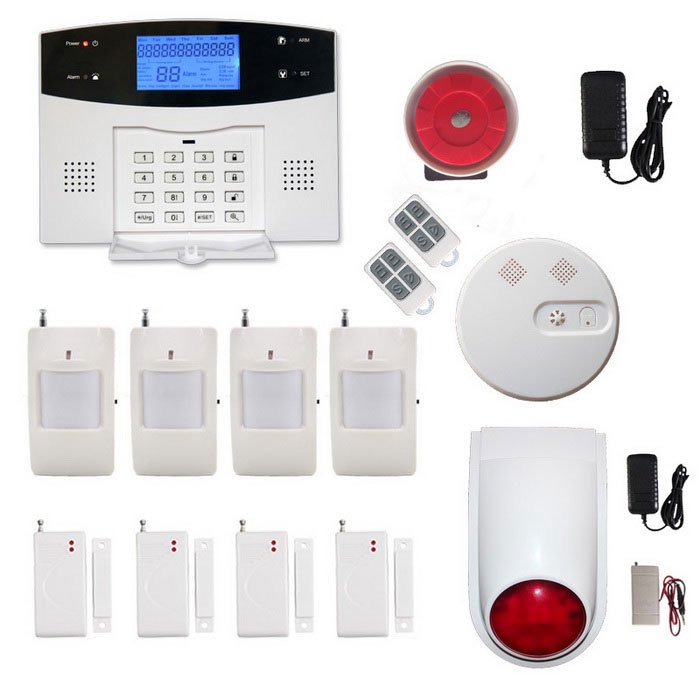Wireless-GSMPSTN-Home-Office-Security-Burglar-Intruder-Alarm-Black-2b-Grey-White