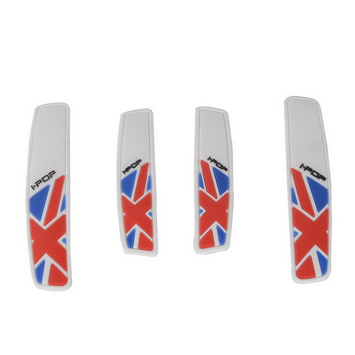 CARKING Soft Rubber Self Adhesive Car Door Edge Scratch Guards (4PCS)Car Stickers<br>Form  ColorWhite + Red + Multi-ColoredModelN/AQuantity4 DX.PCM.Model.AttributeModel.UnitMaterialSoft RubberShade Of ColorWhiteApplicationBodyTypePaperPacking List4 *Car Door Bumper Guards<br>