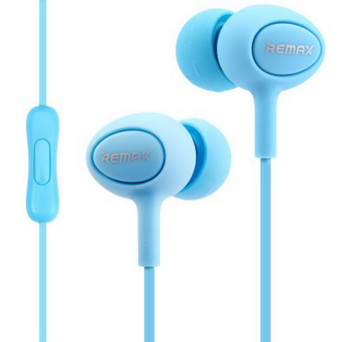 Remax 515 Subwoofer In-Ear Wired Control Earphones w/ Mic. - Blue ...