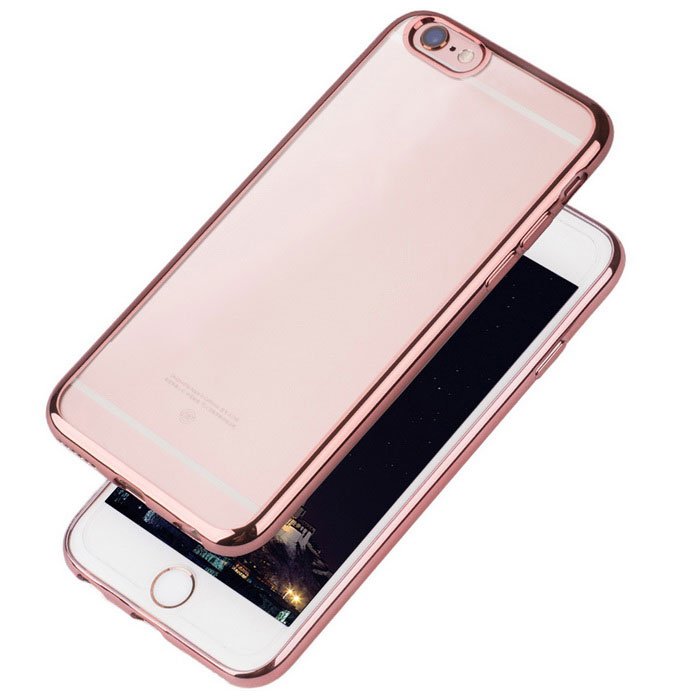 Plating Transparent TPU Back Case for IPHONE 6/6S  - Rose GoldenTPU Cases<br>Form  ColorRose GoldQuantity1 DX.PCM.Model.AttributeModel.UnitMaterialTPUCompatible ModelsIPHONE 6S,IPHONE 6DesignSolid Color,Transparent,Others,-StyleBack Cases,Full Body Cases,Others,-Packing List1 * Case1 * Cleaning cloth<br>