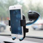 ZIQIAO 360' Suction Cup Type Mobile Phone Bracket - Black + Blue