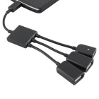 BSTUO Micro USB OTG HUB 3-in-1 Micro USB Hub Male to Female Adapter