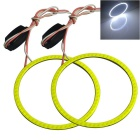 Jiawen 60mm Cold White COB Angel Eyes Car Lamps w/ Drive (2PCS/DC 12V)