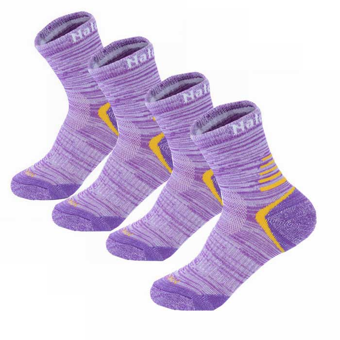 Buy NatureHike Sports Quick Drying Socks for Women - Purple (2 Pairs) with Litecoins with Free Shipping on Gipsybee.com
