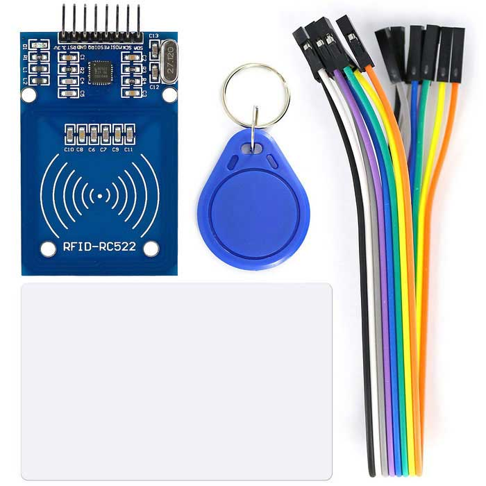 Buy OPEN-SMART RC522 RFID Card Reader Module Kit w/ 8P Cable for Arduino with Litecoins with Free Shipping on Gipsybee.com