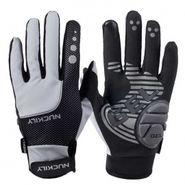 NUCKILY-Touch-Screen-Outdoor-Riding-Full-Finger-Gloves-Grey-(XL)