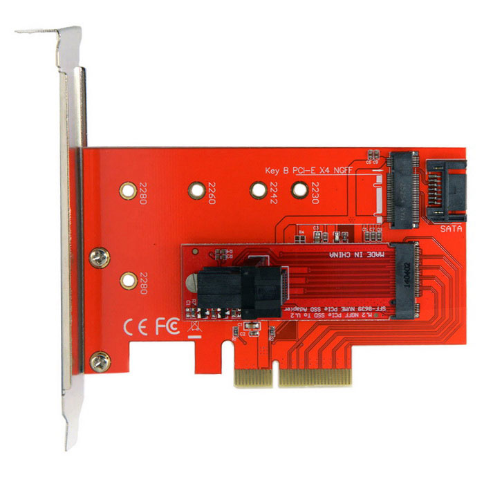 CY SA-197/SF-094 PCI-E 3.0 x4 Lane Host Adapter M.2 NGFF M Key SSDOther Accessories<br>Form  ColorRedModelSA-197/SF-094Quantity1 setMaterialABSOther FeaturesPCI-E 3.0 x4 Lane Host AdapterPacking List 1 * PCI-e 4x to Nvme PCBA Adapter1 *  Nvme U.2 to SFF-8639 PCBA Adapter<br>