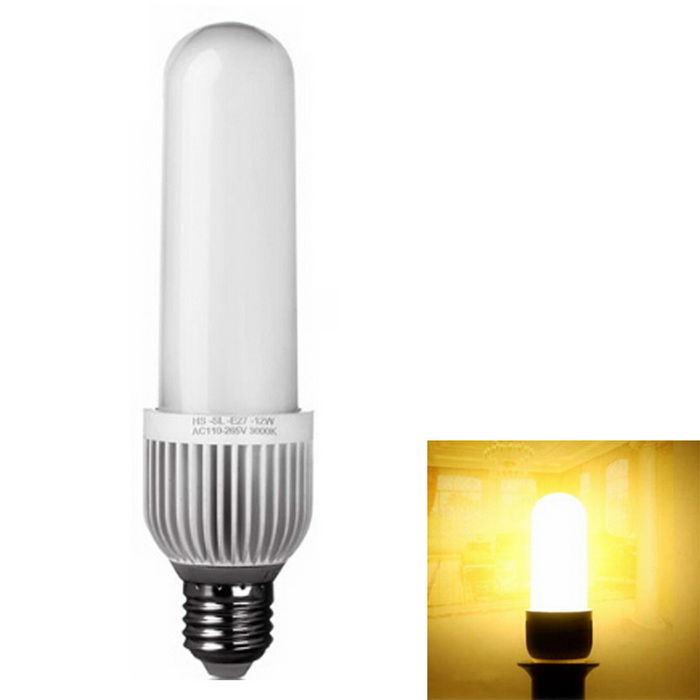 E27 9W LED Corn Lamp Warm White 48-SMD 4014 (AC 110-265V)E27<br>Color BINWarm WhiteMaterialAluminum alloy + flame retardant PCForm  ColorWhite + MulticolorQuantity1 DX.PCM.Model.AttributeModel.UnitPower9WRated VoltageOthers,AC 110-265V DX.PCM.Model.AttributeModel.UnitConnector TypeE27Chip Type4014 SMDEmitter TypeOthers,4014 SMDTotal Emitters48Theoretical Lumens1000 DX.PCM.Model.AttributeModel.UnitActual Lumens850 DX.PCM.Model.AttributeModel.UnitColor Temperature3000KDimmableNoBeam Angle360 DX.PCM.Model.AttributeModel.UnitWavelengthN/ACertificationCE ROHSOther FeaturesLow consumption, high brightness.<br>Energy-saving and environmentally friendly, is conducive to recycling.<br>Low heat generating, no UV or IR light radiation.<br>Seismic, impact resistance, non-thermal radiation, safe and stable, reliable<br>Suitable for home, office and exhibition lighting<br>Very low heat generating, besides saving light power<br>It has a long lifespan, no hazardous materials.<br>Instant start, have flashing. solid state, shockproof.<br>Save power more than ordinary bulbs.<br>Made of high quality materials.Packing List1 * E27 bright LED light stick<br>
