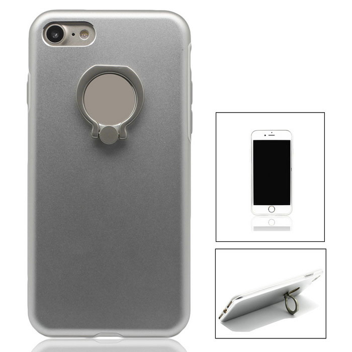 Aluminium Alloy Back Case w/ Holder Ring for iPhone 7Metal Cases<br>Form  ColorSilverQuantity1 DX.PCM.Model.AttributeModel.UnitMaterialAluminium alloyCompatible ModelsiPhone 7StyleBack CasesPacking Listcase *1<br>