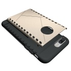 Protective PC Back Case for IPHONE 7 Plus - Gold + Black
