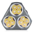 MANKER MK34 12-LED 7-Modo 6500lm linterna blanca neutral