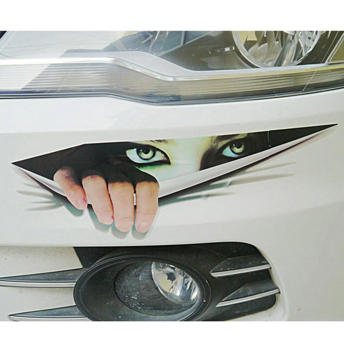 3D Simulation Peeping Eye Motorized Vehicle Modified Car StickerCar Stickers<br>Form  ColorBlack + WhiteModelONQuantity1 DX.PCM.Model.AttributeModel.UnitMaterialPVCShade Of ColorBlackApplicationBody,Rearview Mirror,Fuel Tank Cap,WindowTypePaperPacking List1 * Car sticker<br>