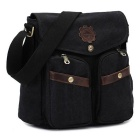 KAUKKO FJ45 8L Unisex Casual Canvas Single-shoulder Bag - Black