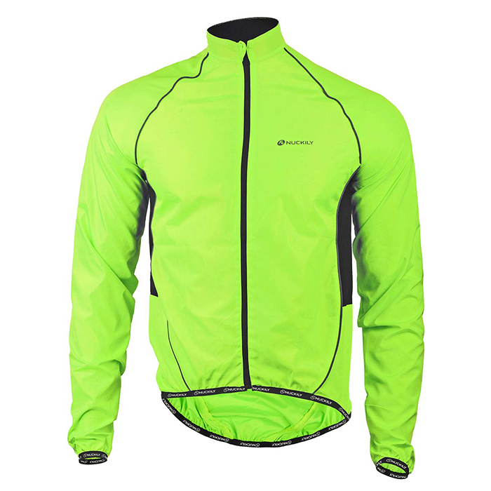 NUCKILY-Outdoor-Bicycle-Riding-Coat-Raincoat-Fluorescent-Green-(XL)