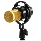 Condenser-Sound-Recording-Microphone-with-Shock-Mount-Black