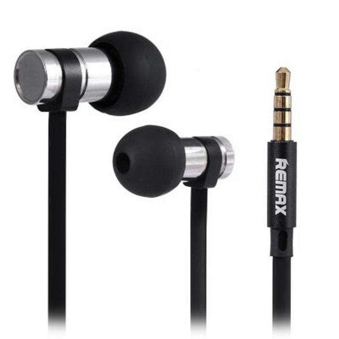 REMAX RM-565i 3.5mm Plug In-ear Bass Earphone - BlackHeadphones<br>Form  ColorBlackModelRM-565iMaterialABS + SiliconeQuantity1 DX.PCM.Model.AttributeModel.UnitShade Of ColorBlackHeadphone StyleBilateral,In-EarConnection3.5mm WiredCable Length100 DX.PCM.Model.AttributeModel.UnitSensitivity95db±3dbTHDLess than 1 percentRemoteYesWith MicrophoneBuilt-inDriver Unit6mmFrequency Response20-20kHzImpedance16 DX.PCM.Model.AttributeModel.UnitConnector3.5mmLeft &amp; Right Cables TypeEqual LengthBrandOthers,RemaxBluetooth VersionNoWaterproof LevelIPX0 (Not Protected)Applicable ProductsUniversalHeadphone FeaturesPhone Control,Volume Control,With Microphone,PortableSupports MusicYesSupport Memory CardNoSupport Apt-XNoPacking List1 * REMAX RM-565i Earphone1 * Storage Bag 2 * Replacement Silicon Earplugs1 * English User Manual<br>