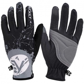 NUCKILY-PD01-Breathable-Polyester-Full-Finger-Gloves-Grey-(PairXL)